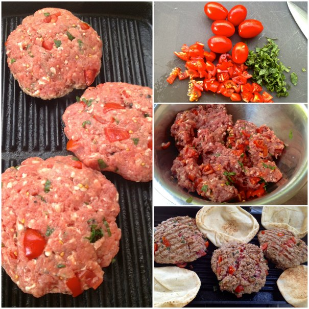 burger with tomatoes