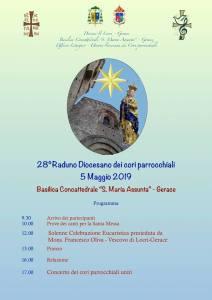 """<span class=""""entry-title-primary"""" data-recalc-dims=""""1"""">28° Raduno dei Cori Parrocchiali</span> <span class=""""entry-subtitle"""">Il 5 maggio 2019 presso la Basilica Concattedrale """"Santa Maria Assunta"""" – Gerace</span>"""