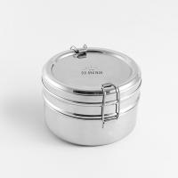 ronde broodtrommel rvs – rvs lunchtrommel – rvs lunchbox - ecobrotbox