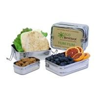 rvs lunchtrommel met vakjes - rvs lunchbox - eco lunchbox – rvs broodtrommel – ecobrotbox