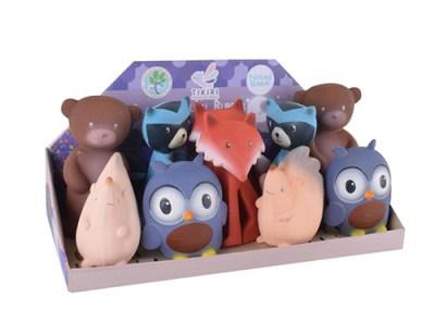 tikiri natuurrubber speelgoed set - bijtspeelgoed - baby speelgoed - knijpdiertje