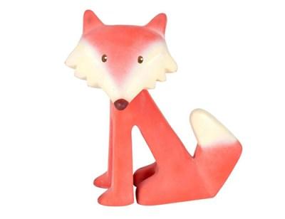 tikiri vos speelgoed baby - bijtspeelgoed - baby speelgoed – knijpdiertje- natuurrubber speelgoed