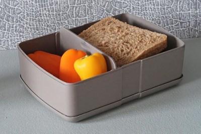 broodtrommel met vakken- zuperzozial broodtrommel met elastiek - lunchbox