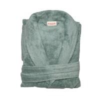 groene badjas - badjas biologisch katoen - badstof badjas groen – badjas mintgroen