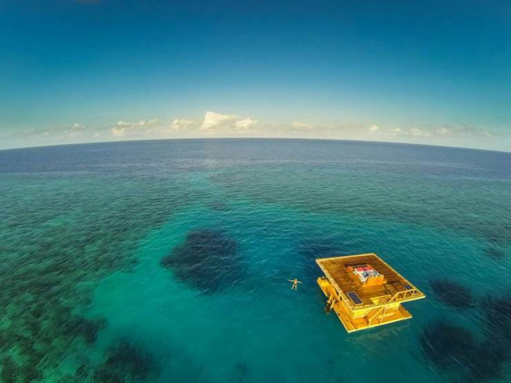 فريدة من نوعها في فندق تحت الماء في منتجع مانتا ، تنزانيا
