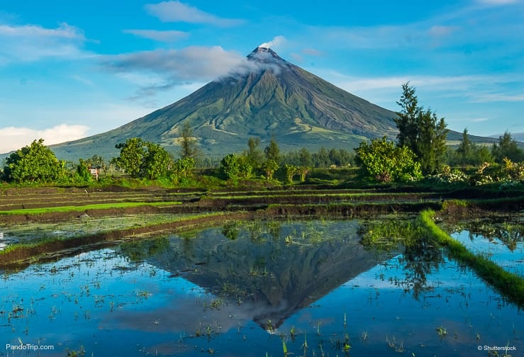 Mayon Volcano in Philippines
