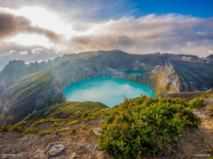 Morning View of Kelimutu Volcano, Flores Islands, Indonesia