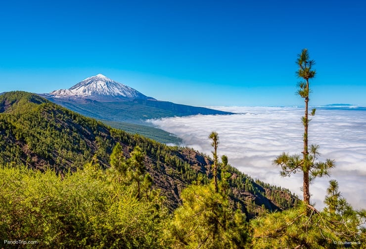 Panoramic view of Mount Teide, Tenerife, Canary Islands, Spain