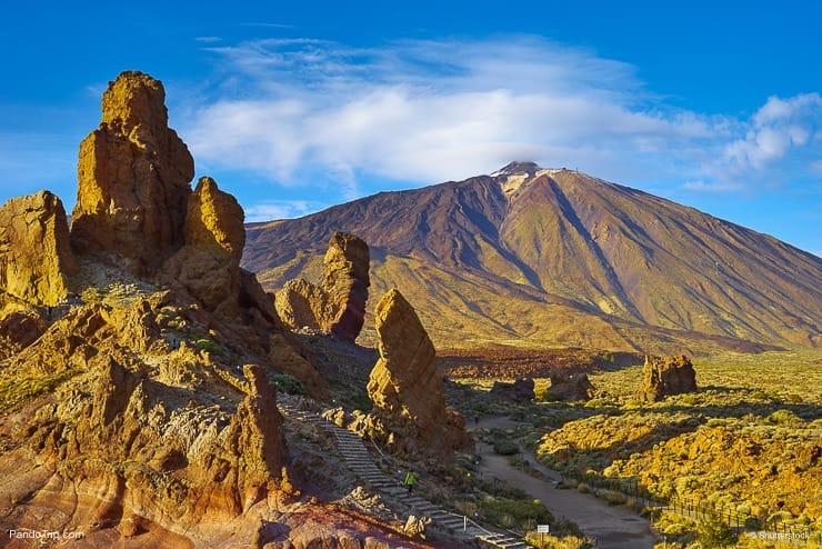 Roque Cinchado and Mount Teide, Tenerife, Canary Islands, Spain