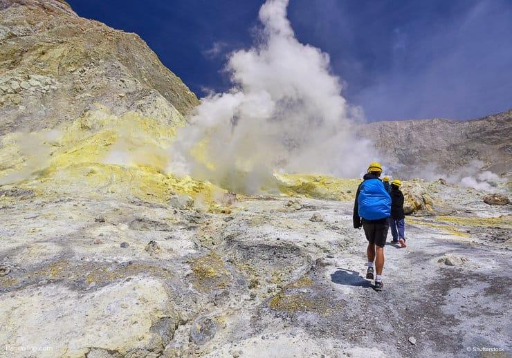 Whakaari or White Island an active andesite stratovolcano in New Zealand