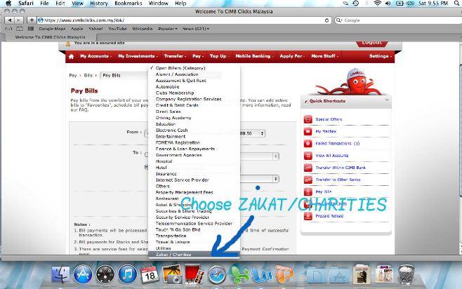 Bayar zakat Fitrah dengan CIMB Clicks