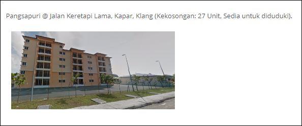 Smart Sewa Selangor - Pangsapuri @ Jalan Keretapi Lama, Kapar