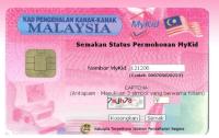 Status Permohonan MyKid