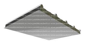Panel lana de roca cubierta acustica