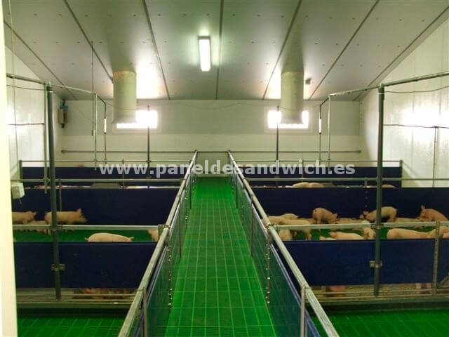 Cubierta sandwich agropanel para granjas