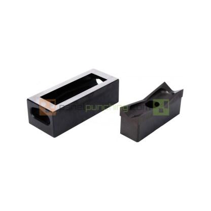 Alfra 1/8 DIN 45 x 92mm Stainless Steel Rectangular Punch/Die Set