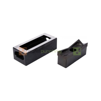 Alfra 36 X 52mm Stainless Steel Rectangular Punch/Die Set For 6 Pin Connectors
