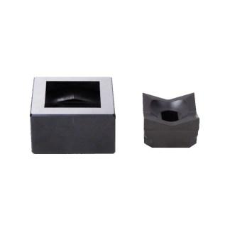 "Alfra 5-3/8"" (138 X 138 mm) Square Punch & Die Set"