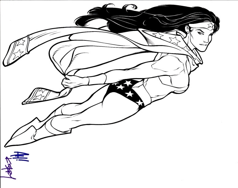 Download Coloring Pages Wonder Woman Pages In Pages: Adam Hughes Wonder Woman : Panels On Pages