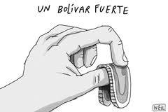 Bolívar Fuerte - Caricatura de Roberto Weil