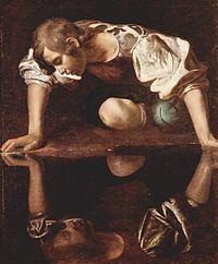 Narciso ¿contemplando su belleza en un pozo de petróleo o en un lago lleno de Lemna?