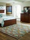 Navajo Blanket Design - Sage Light Blue Ivory and Rust area rug 2