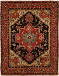 red black area rug
