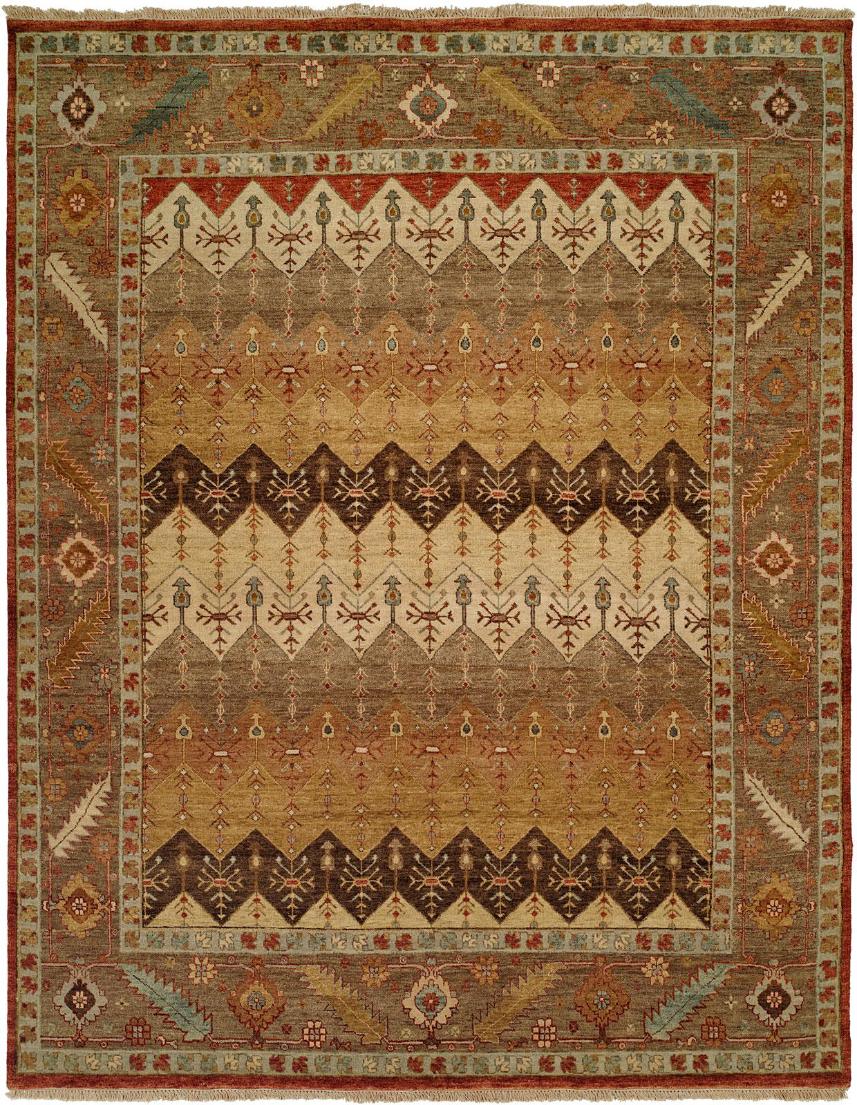 Brown Rust And Tan Multi Colored Area Rug