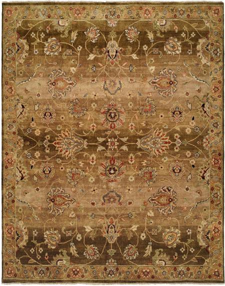 Chocolate Brown and Tan area rug