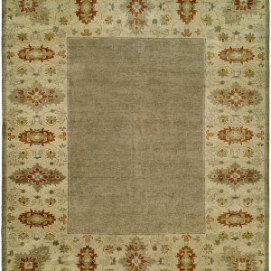 Light Grey and Tan with Rust Accents area rug