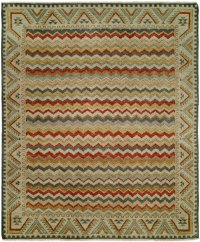Multi Colored accents on a Grey Field area rug