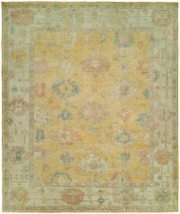 Light Gold Field with Ivory Border area rug