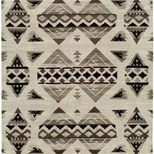Navajo Blanket Design. Natural Grey Black and Ivory