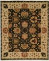 Black Field with Ivory Border area rug