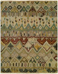 Beige with Light Blue area rug