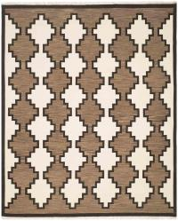 Navajo Rug Design - Ivory Grey and Black area rug