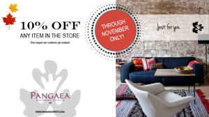 10% off area rugs Coupon through November