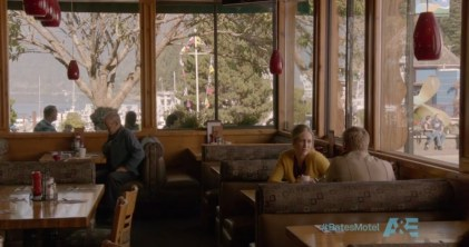 Norma Bates at Trolls in Horseshoe Bay - Screenshot courtesy of A&E Network