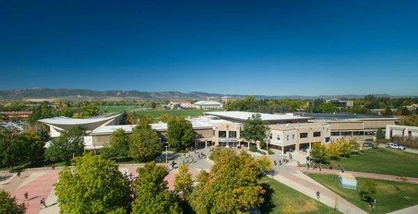 Lory Student Center Plaza on CSU's Campus