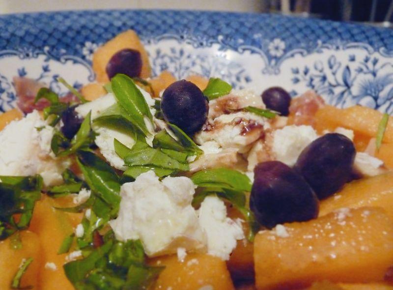 Salade de melon au crottin de chavignol