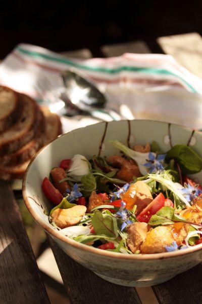 Salade de pousses au Pot'je vlesch 1