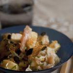 Salade de choucroute crue à la truite fumée et oeufs de truite…