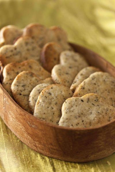 Biscuits au thé earl grey ou aux pétales de rose