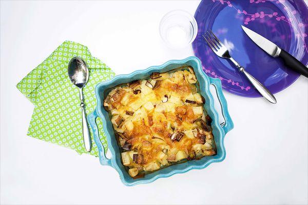 Gratin pommes de terre, poireaux et gorgonzola 1