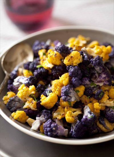 Sauté de choux-fleurs couleurs au zeste de citron et à la fleur de sel 2
