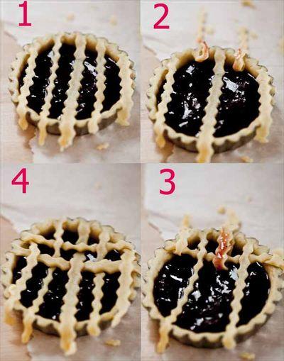 Comment faire des croisillons sur une tarte