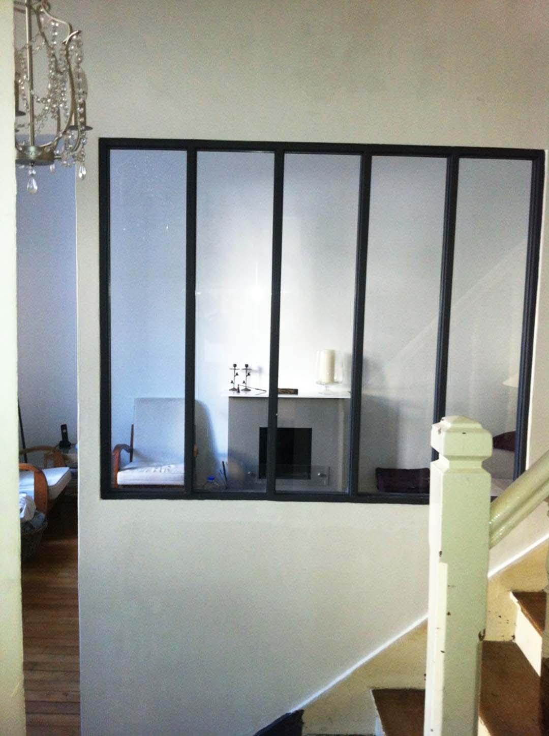 Création dune baie vitrée intérieure dans le salon