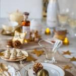 Cocktail Champagne St Germain et Table Dorée: pour Noël c'est Palace!