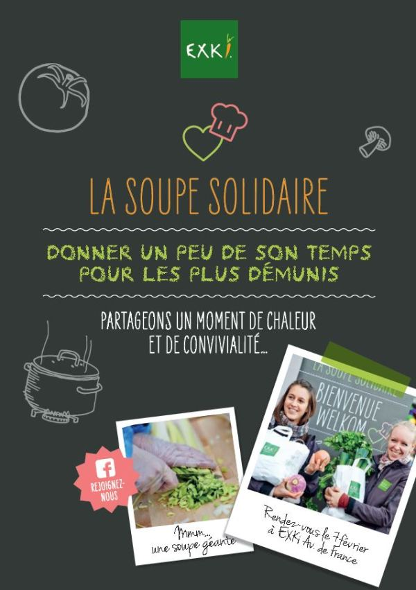 Exki soupe solidaire affiche