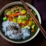 Wok de légumes au riz de konjac (Gohan par Gerlinea)